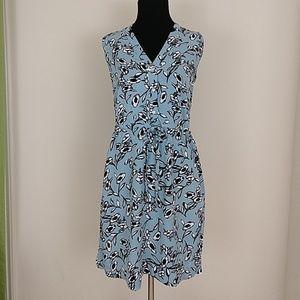 Ann Taylor Loft Floral Summer Drawstring Dress
